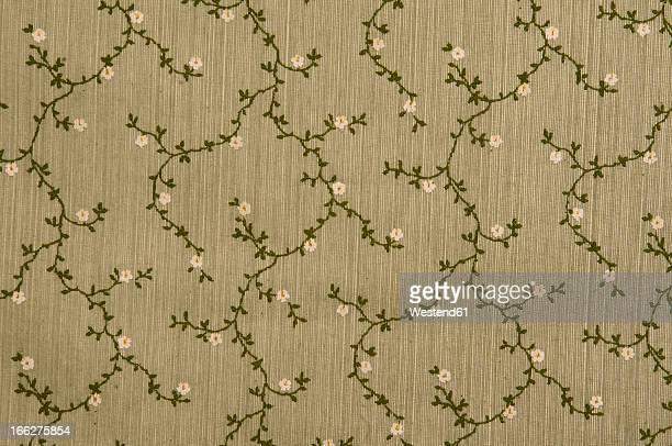 Floral fabric wallpaper (full frame)