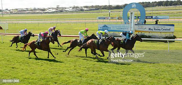 Floral Fever ridden by Jamie Mott wins Midfield Group Maiden Plate at Warrnambool Racecourse on August 25, 2016 in Warrnambool, Australia.