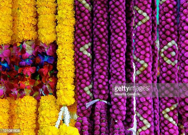 Floral garlands for Buddhist offerings