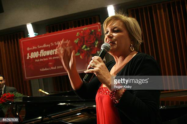 Floral lifestyle expert Julie Mulligan speaks at An Evening of Romance Rhythm presented by 1800Flowers at Gibson Guitar Showroom on January 14 2009...