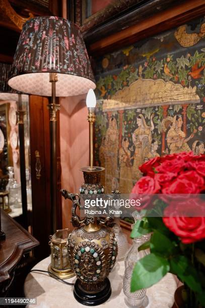 A floral nook at Sabyasachi Jewelry Indian couturier and jewelry designer Sabyasachi's first flagship jewelry store in the country on December 17...