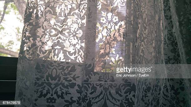 Floral Pattern Curtain At Home