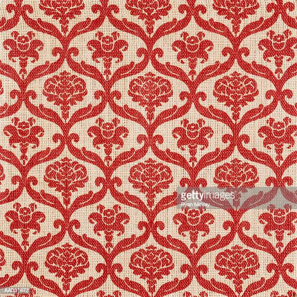 Floral Pattern on Woven Material