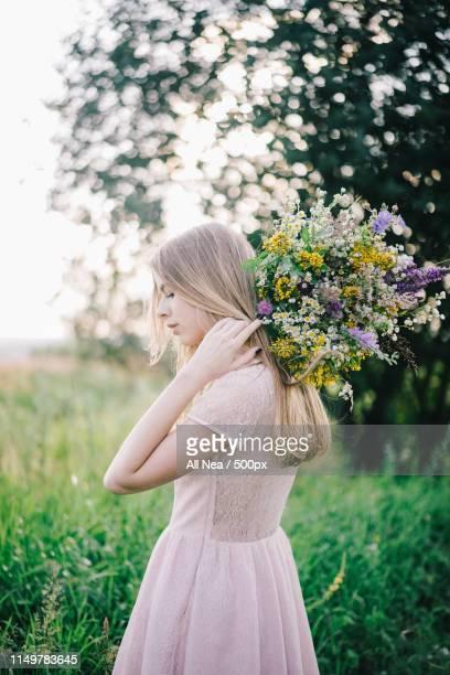 floral photo - 金髪 ストックフォトと画像