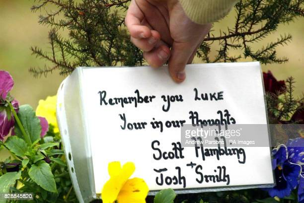 A floral tribute for teenager Luke Walmsley placed outside of the Birkbeck School North Somercotes in Linconshire Police today revealed the pupil...