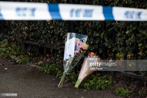 Floral tributes lay at the scene of a fatal stabbing in Leyton on March 7 2019 in London England A man in his 20s has become the 21st person killed...