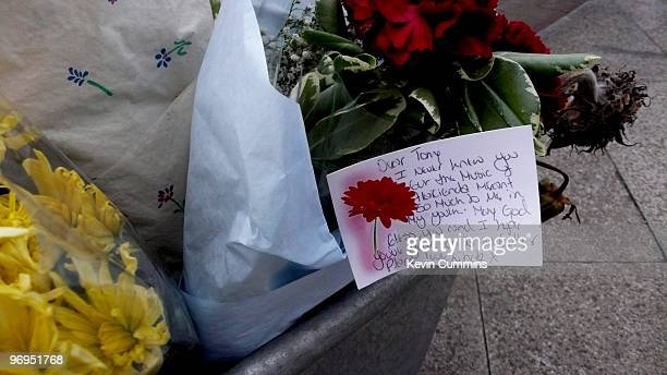 Floral tributes left outside the Hacienda in Manchester after the death of Tony Wilson on August 20 2007 The former Factory Records boss died from...