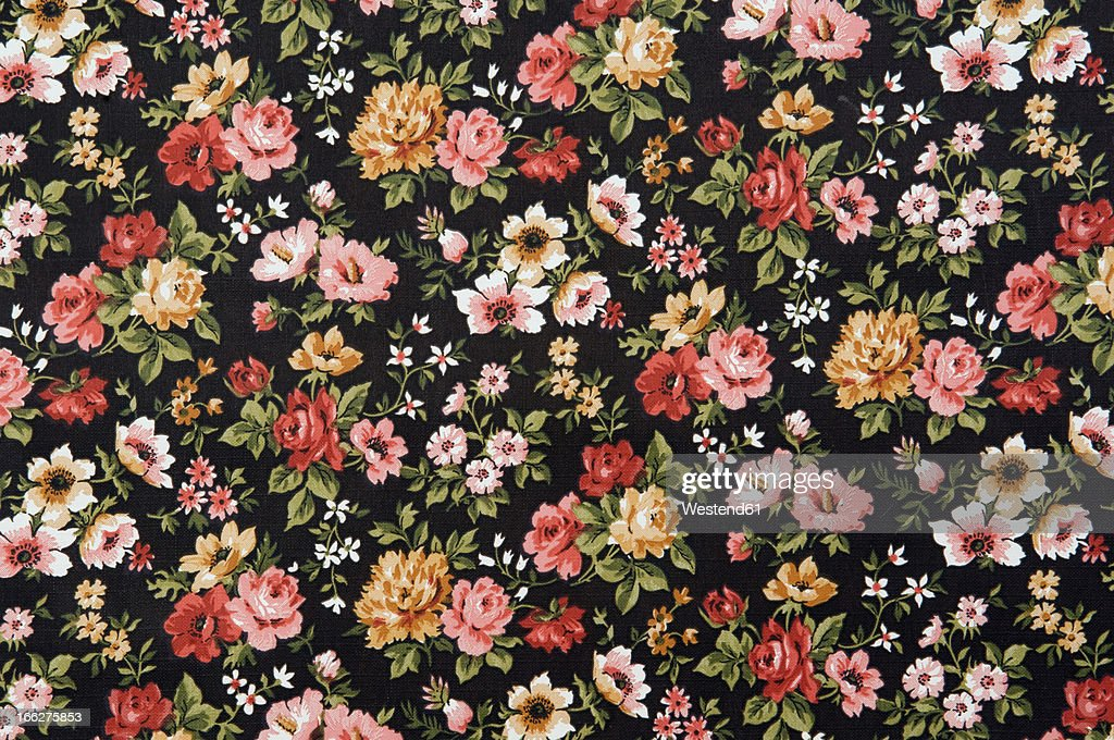 Floral wallpaper, full frame : Stock Photo