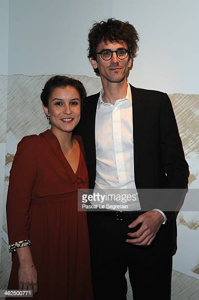 Flore Bonaventura adn Hugo Gelin attend the 'Cesar Revelations 2014' Cocktail Party and Dinner at Salons Chaumet on January 13 2014 in Paris France