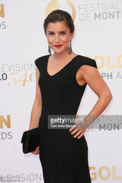 Flore Bonaventura attends the Closing Ceremony and Golden Nymph Awards of the 54th Monte Carlo TV Festival on June 11 2014 in MonteCarlo Monaco