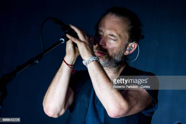 a English rock band Radiohead performs at Firenzerocks Festival on June 14 2017 in Florence Italy