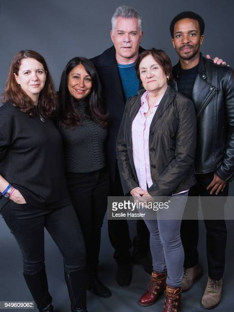 Florence Almozini Haifaa alMansour Ray Liotta Martha Coolidge and Andre Holland pose for a portrait during the Jury Welcome Lunch 2018 Tribeca Film...