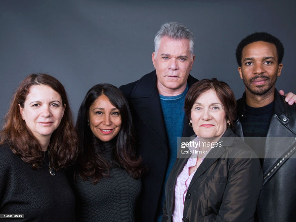 Florence Almozini, Haifaa al-Mansour, Ray Liotta, Martha Coolidge and Andre Holland pose for a portrait during the Jury Welcome Lunch - 2018 Tribeca Film Festival at Tribeca Film Center on April 19, 2018 in New York City.
