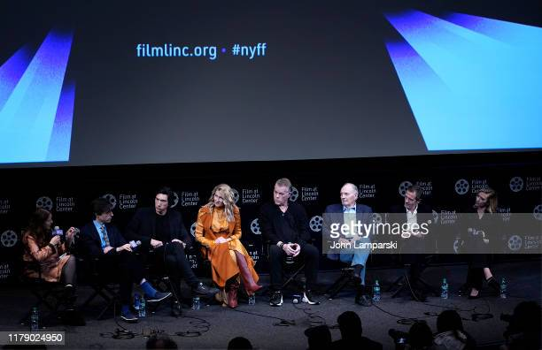 Florence Almozini Noah Baumbach Adam Driver Laura Dern Ray Liotta Alan Alda David Heyman and Scarlett Johansson speak during the film discussion of...