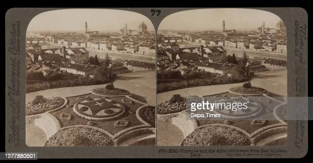 Florence and the Arno northwest from San Miniato, Stereographic views of Italy, Underwood and Underwood, Underwood, Bert, 1862-1943, stereograph:...