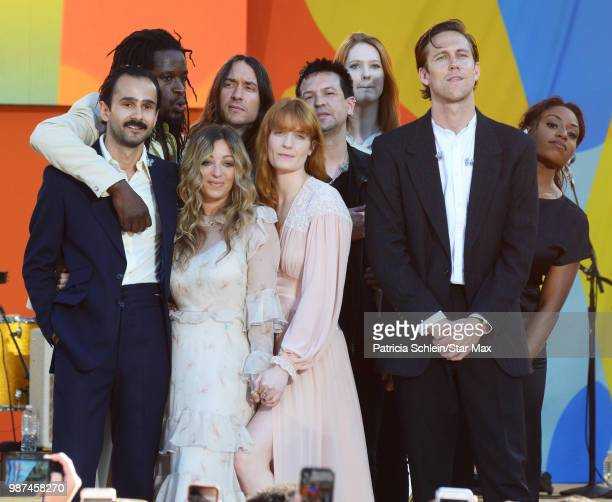 Florence And The Machine is seen on June 29, 2018 in New York City performing in concert on Good Morning America.