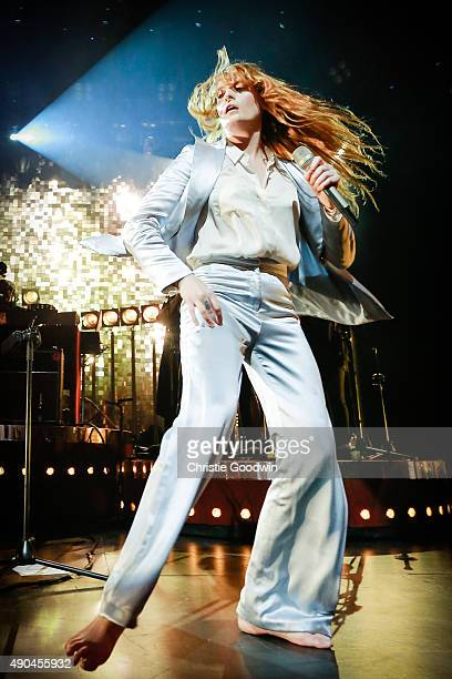 Florence and the Machine perform on stage as part of Apple Music Festival at The Roundhouse on September 28 2015 in London England