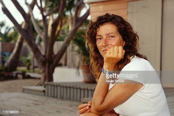 Florence Arthaud in SaintBarthelemy France on May 15 1996