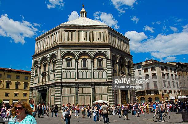 Florence Baptistry Gates of Paradise East Door Duomo square Piazza del Duomo Tuscany Italy