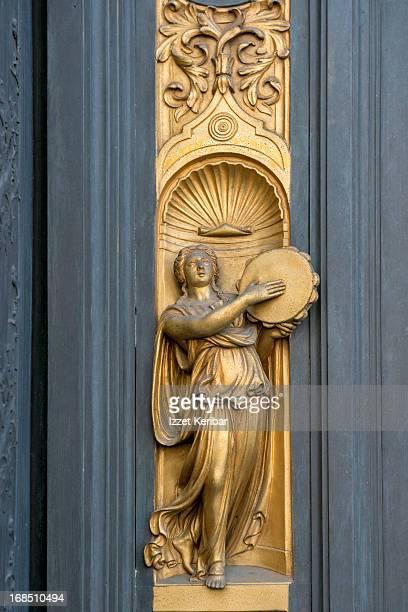 Florence Baptistry Ghiberti Gilded Door details
