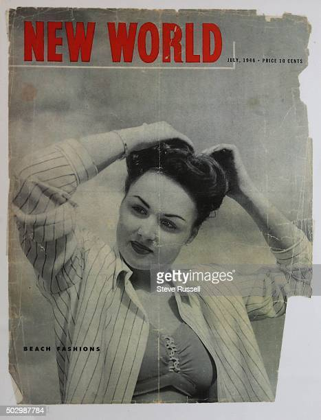 Florence Berger on the front of New World, July 1946. Florence Berger was a New Year's Baby and was also on the front of the February 9th, 1927...