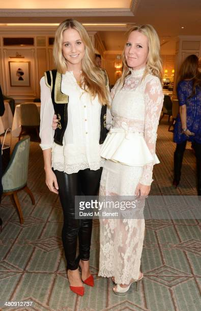 Florence BrudenellBruce and Alice Naylor Leyland attend the launch of 'Mrs Alice In Her Palace' hosted by Alice Naylor Leyland at Fortnum Mason on...