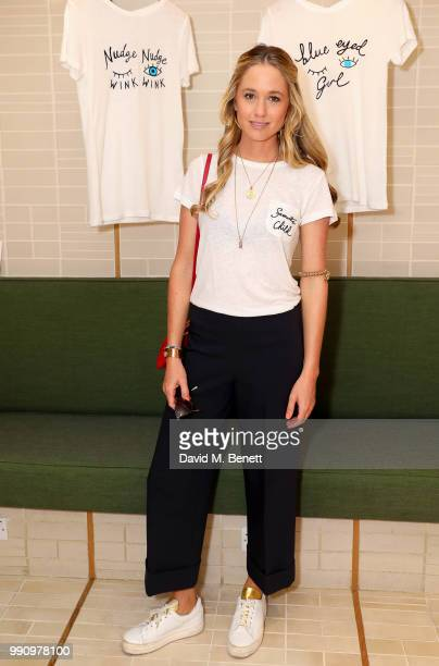 Florence Brudenell-Bruce attends Rotten Roach X Poppy Paper Cuts hosted by Marissa Montgomery at Selfridges on July 3, 2018 in London, England.