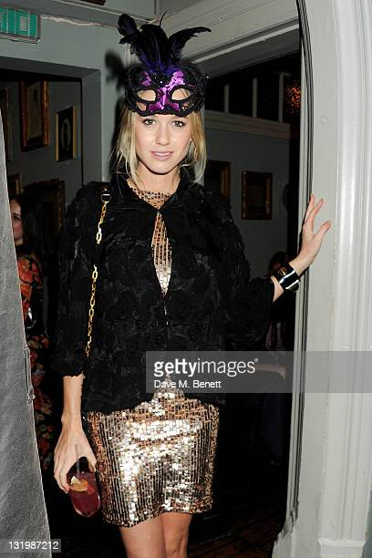 Florence BrudenellBruce attends the Alice Olivia Black Tie Carnival hosted by designer Stacey Bendet at Paradise by Way of Kensal Green on November 9...