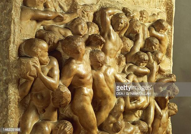 Florence Casa Buonarroti Detail of the Battle of the Lapiths against the Centaurs 14901492 by Michelangelo marble 805x88 cm