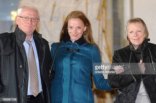 Florence Cassez and her parents leave the Elysee Palace on January 25 2013 in Paris France A Supreme Court in Mexico voted to free Florence Cassez...