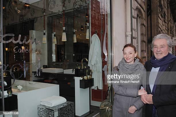 Florence Cassez meets Alain Delon on January 31 2013 in Paris France