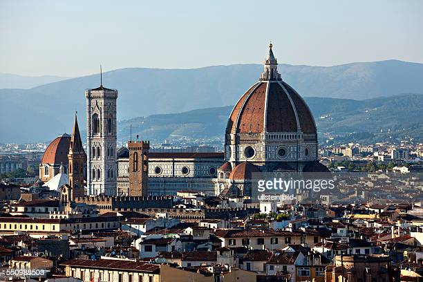 Florence Cathedral, Duomo Santa Maria del Fiore with Brunelleschi's dome, UNESCO World Heritage Site, Florence, Tuscany, Italy, Europe