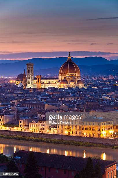 Florence Catherdral (Duomo) and city from Piazzale Michelangelo.