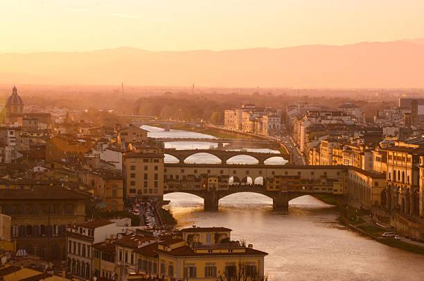 Florence City During Golden Sunset Wall Art