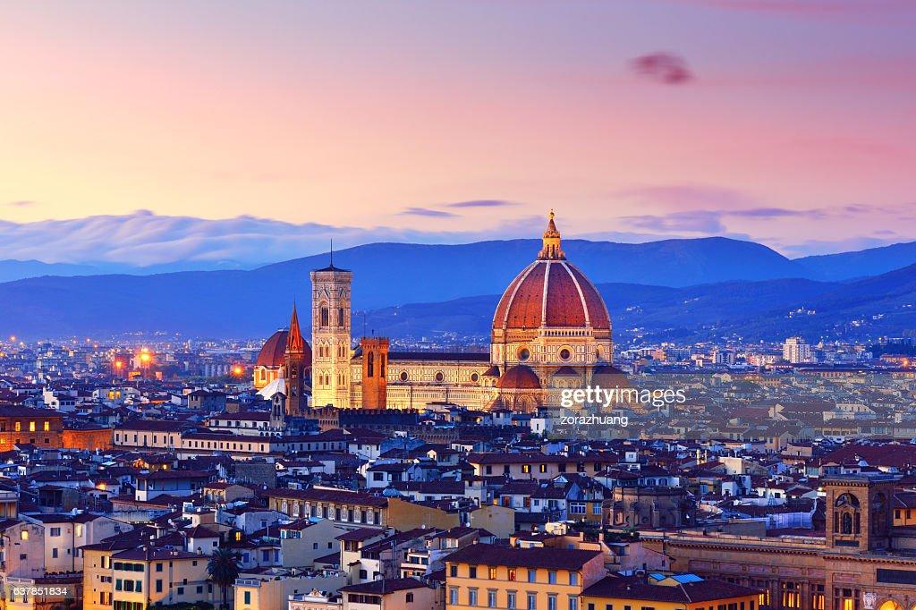 Florence Cityscape and Duomo Santa Maria Del Fiore : Stock Photo