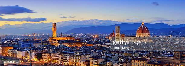 Florence Cityscape Panorama at Sunset