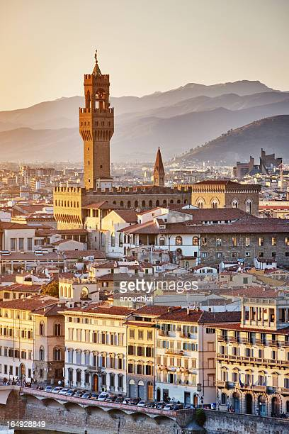 florence cityscape, santa croce church, italy - high renaissance stock pictures, royalty-free photos & images