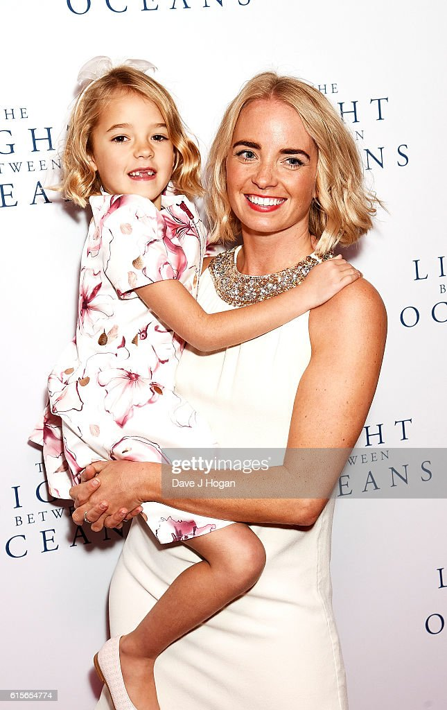 Florence Clery (L) with her mom Kate attends the UK Premiere of 'The Light Between Oceans' at The Curzon Mayfair on October 19, 2016 in London, England.