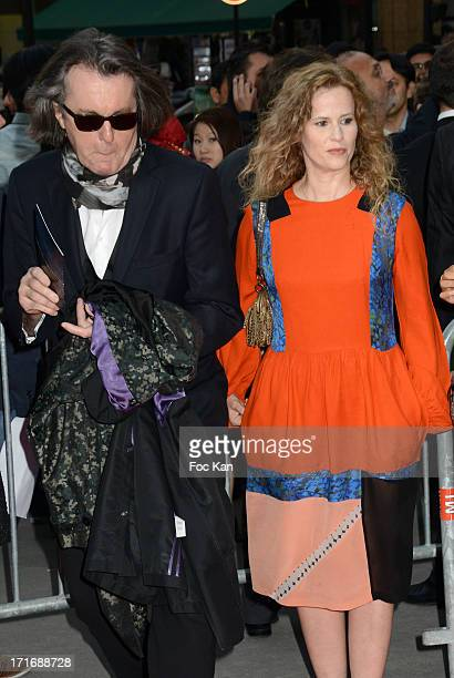 Florence Darel and composer Pascal Dusapin attend the Festival Paris Cinema Opening Night And Premiere Of La Venus A La Fourrure at the Gaumont...
