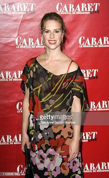 Florence Darel during 'Cabaret' Le Musical de Broadway Live Premiere Arrivals at Les Folies Bergeres in Paris France