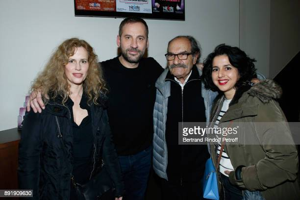 Florence Darel Fred Testot Gerard Hernandez and Nadia Roz pose after Fred Testot performed in his One Man Show 'Presque Seul' at Theatre de la Tour...