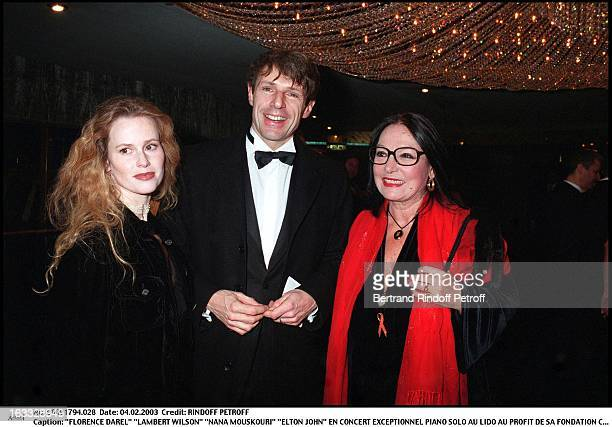 Florence Darel 'Lambert Wilson' 'Nana Mouskouri' 'Elton John' exceptional Piano Solo concert at the Lido for the benefit of his foundation against...