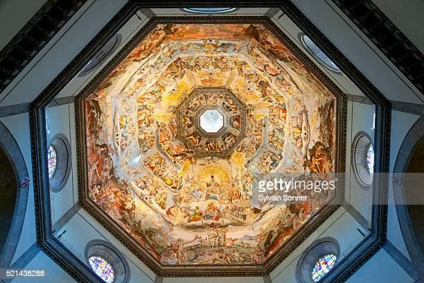 florence, duomo santa maria del fiore - cupola foto e immagini stock