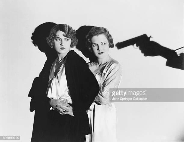 Florence Eldridge as Sibella Greene and Jean Arthur as Ada Greene in the 1929 film The Greene Murder Case