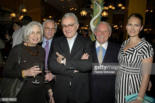 Florence Fabricant Richard Fabricant Alain Ducasse JeanJacques Rachou and Gwenaelle Gueguen attend Benoit Opening Party Hosted by Pamela Fiori and...