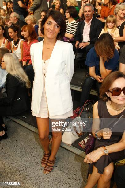 Florence Foresti attends the Sonia Rykiel Ready to Wear Spring / Summer 2012 show during Paris Fashion Week at Halle Freyssinet on October 1 2011 in...