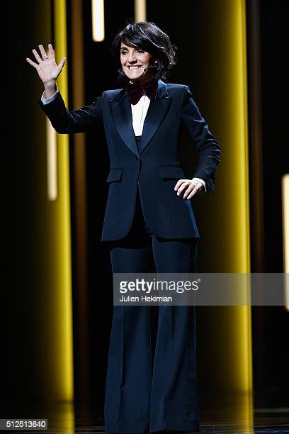 Florence Foresti on stage during The Cesar Film Award 2016 at Theatre du Chatelet on February 26 2016 in Paris France