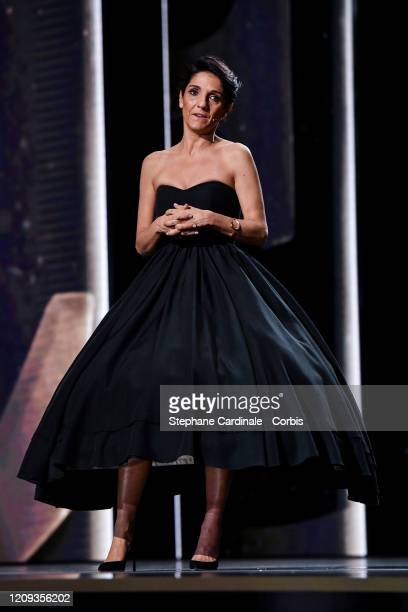 Florence Foresti on stage during the Cesar Film Awards 2020 Ceremony At Salle Pleyel In Paris on February 28, 2020 in Paris, France.