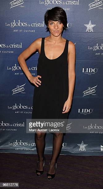 Florence Foresti poses at the Ceremony of Globes de Cristal 2010 Awards at Le Lido on February 8 2010 in Paris France
