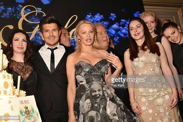 Florence from Massimo Gargia team Vincent Niclo Pamela Anderson and Elia of Albanians attend 'The Best Award Gala 40th Edition' at Four Seasons...